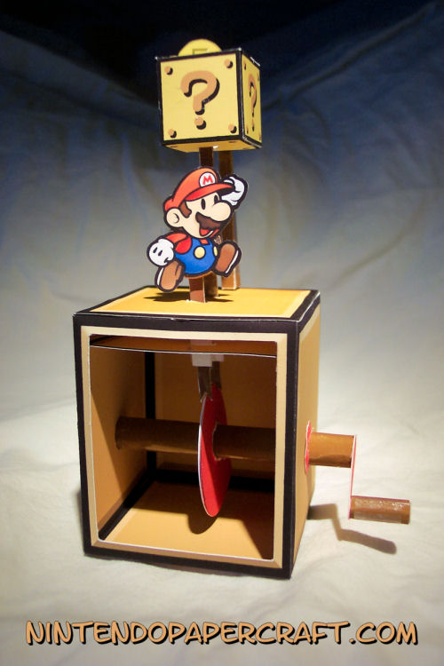 Mario Coin Automata Papercraft by kamibox