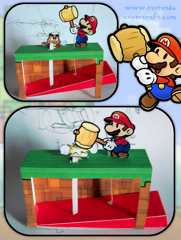 Paper Mario Hammer Automata by kamibox