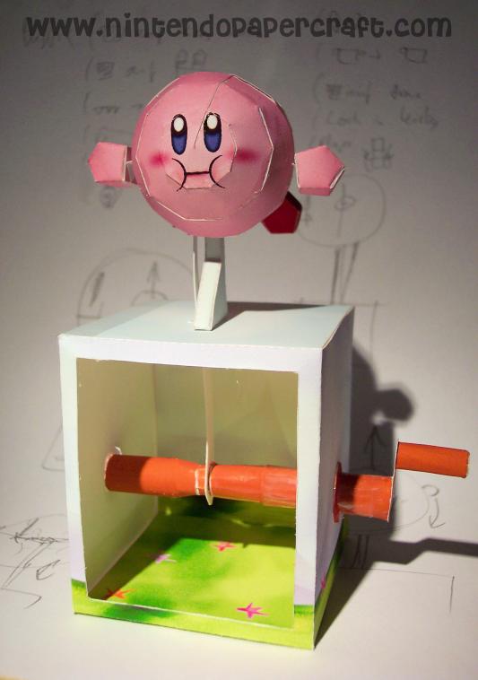 Flying Kirby Papercraft by kamibox