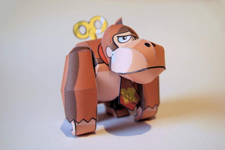 Toy Donkey Kong Papercraft by kamibox