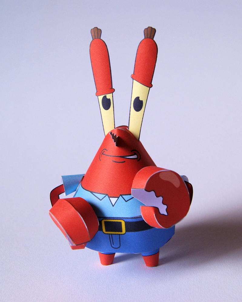 Mr. Krabs Papercraft by kamibox