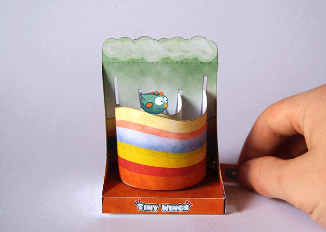 Tiny Wings Machine - Papercraft by kamibox