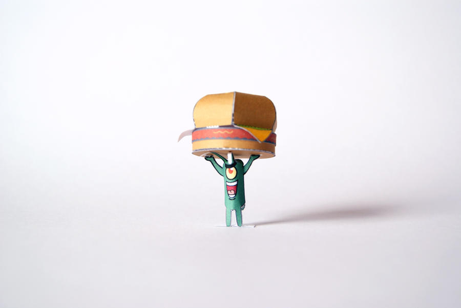 Plankton Papercraft by kamibox
