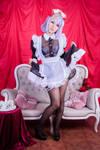 Noelle sheer maid dress
