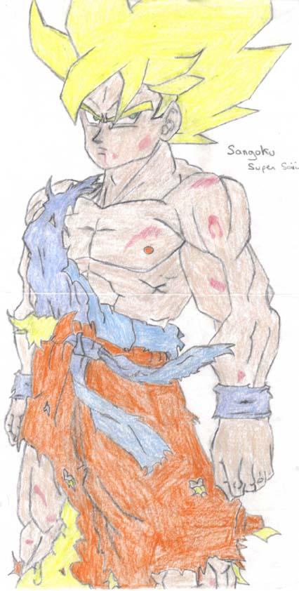 Go.Seb et le dessin DBZ_Goku_my_old_fan_art_pencil_by_Goseb35
