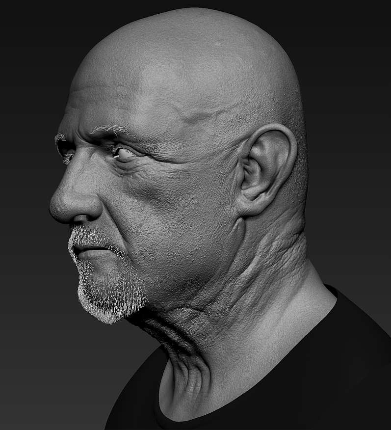Realistic Male Model With Zbrush By Abdelrahman Ku By
