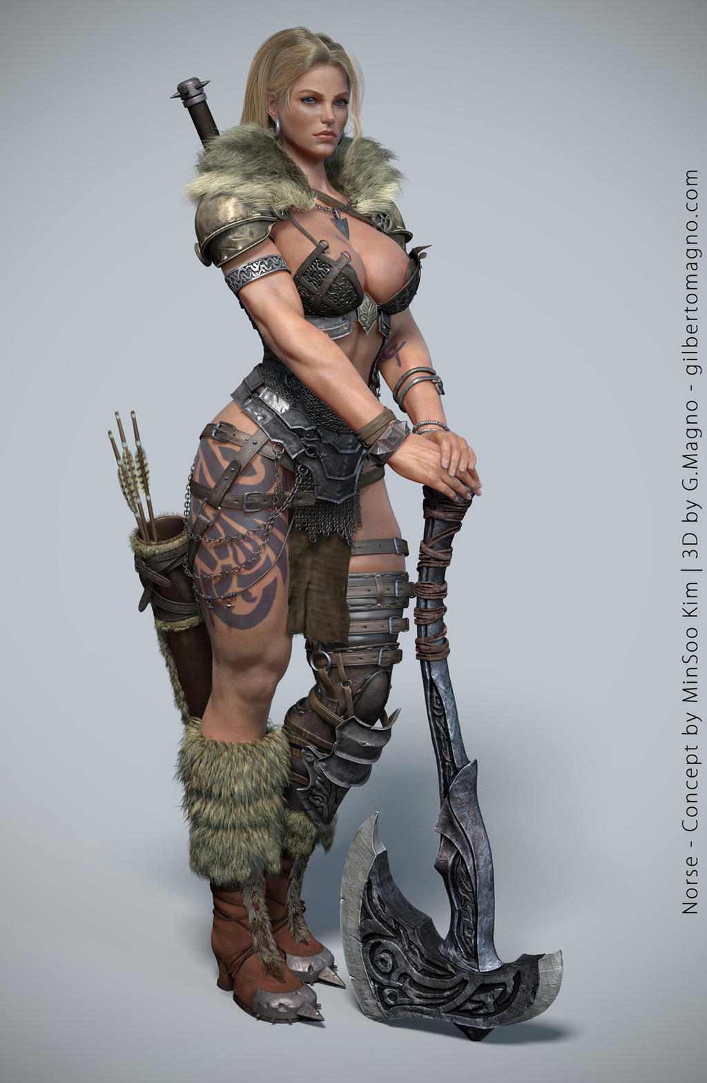 Making of Female Character  Norse with Zbrush