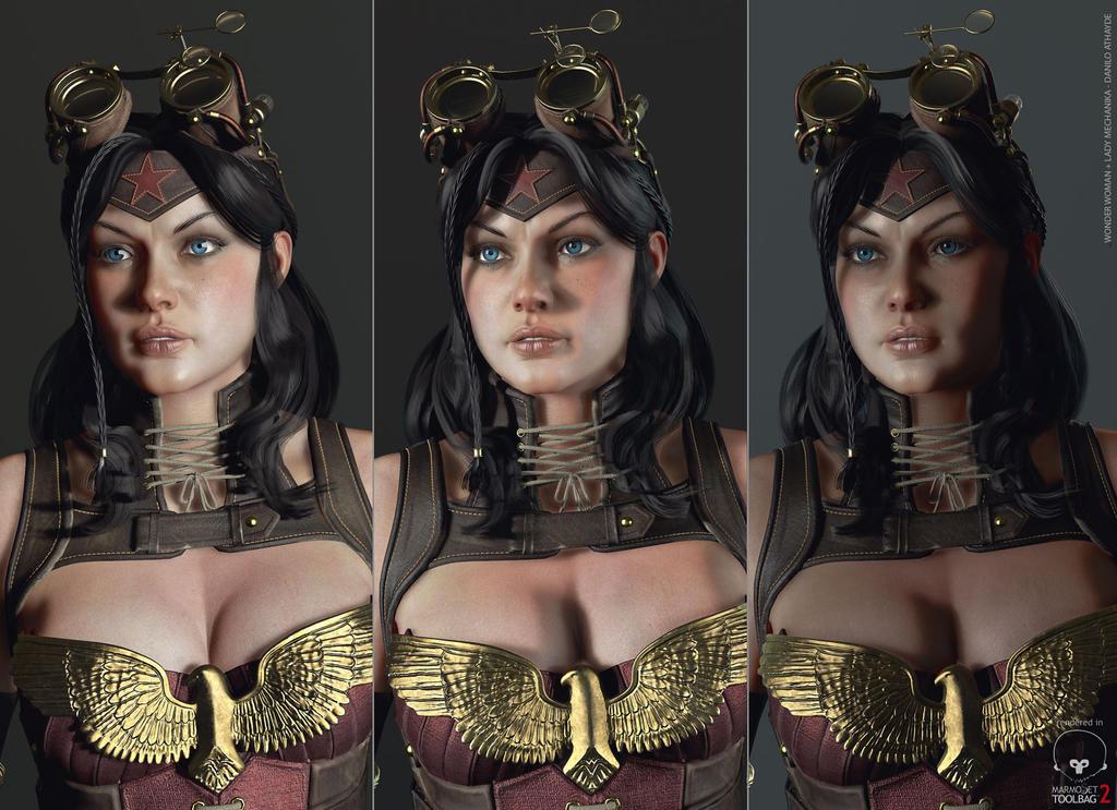 Makingof Realtime Wonder Woman Lady Mechanika by avcgi360
