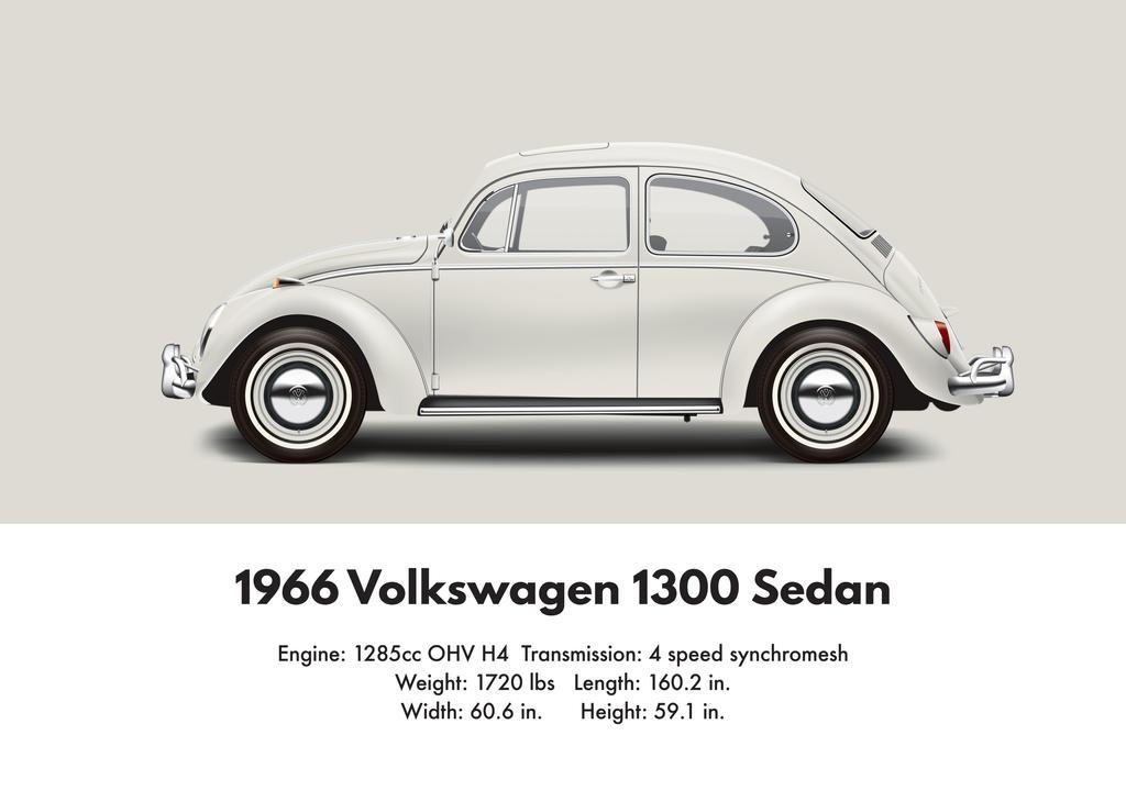 1966 Vw 1300 Sedan Pearl White By Artbyedo On Deviantart
