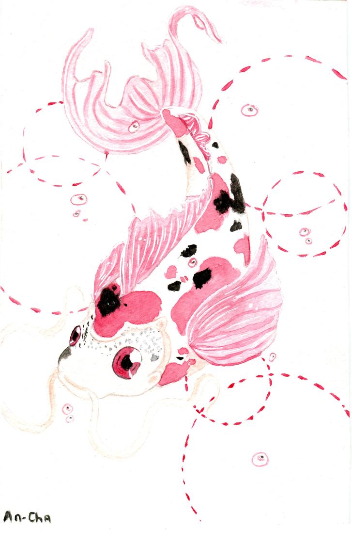 Pink carpe koi by an cha on deviantart for Carpes kois