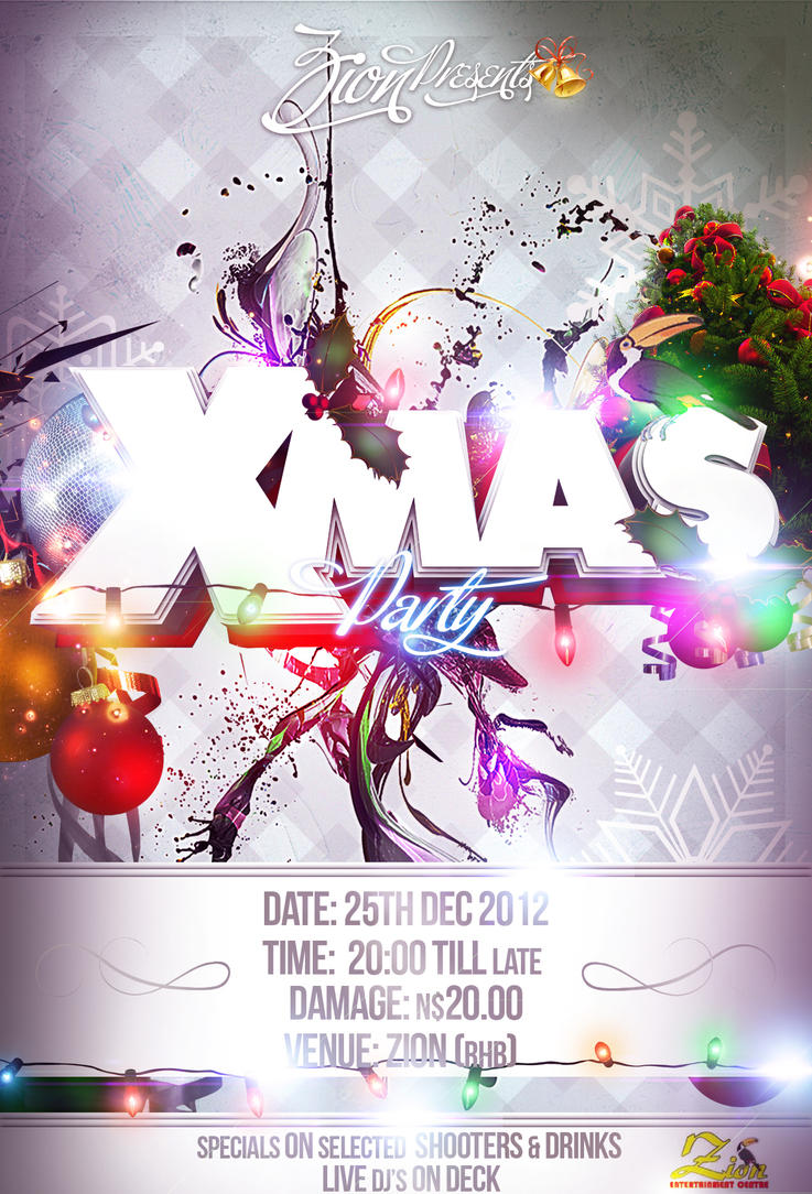 xmas party flyer by freygang on xmas party flyer by freygang