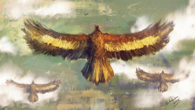 EAGLES APPROACHING.(THE HOBBIT FAN ART) by shahzi00
