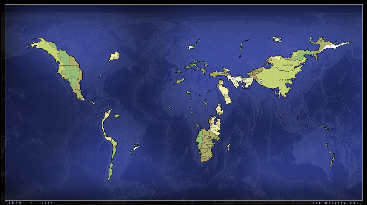 GLOBAL WARMING -- IF icecaps melt.... (pics ...