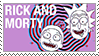 Rick and Morty stamp by Niksilp