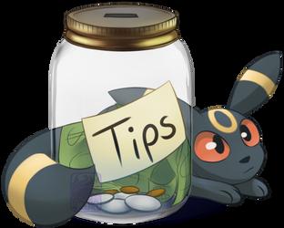 Umbreon Tip Jar by Umbreeunix