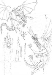 Two Dragons- The Epic Battle by neri1988