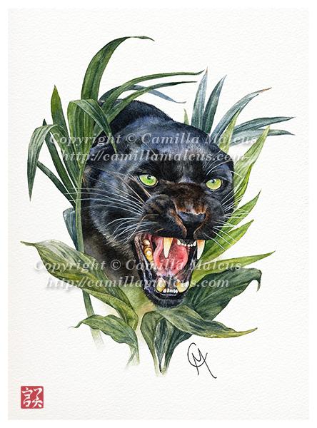 Black Panther Tattoo Design By Camillamalcus On Deviantart