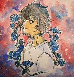 L the blue rose