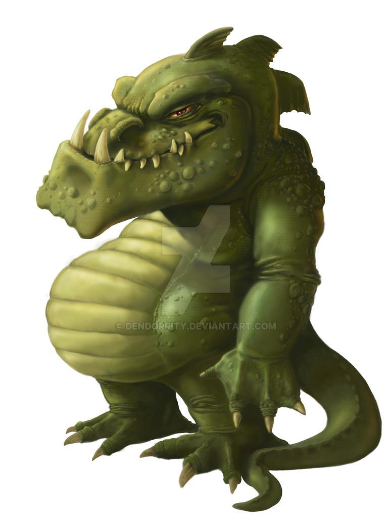 Fat Little Green Dragon by dendorrity