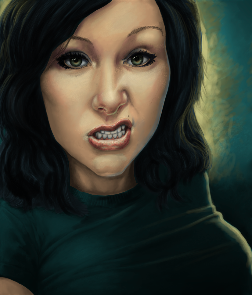 Sarah--Elizabeth Portrait Color WIP 01 by dendorrity