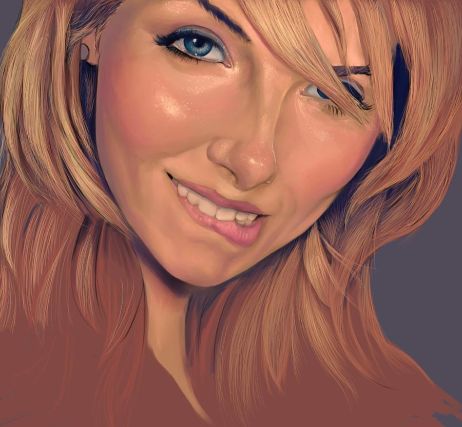 Portrait of a Model - WIP 01