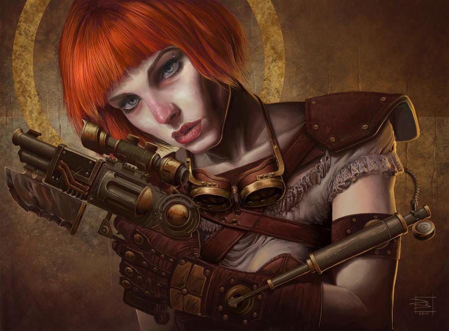 Steampunk Dystopia: Kiera by dendorrity