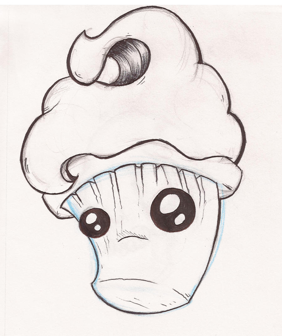 Cup cake by ink justin on deviantart for Cute muffin drawing
