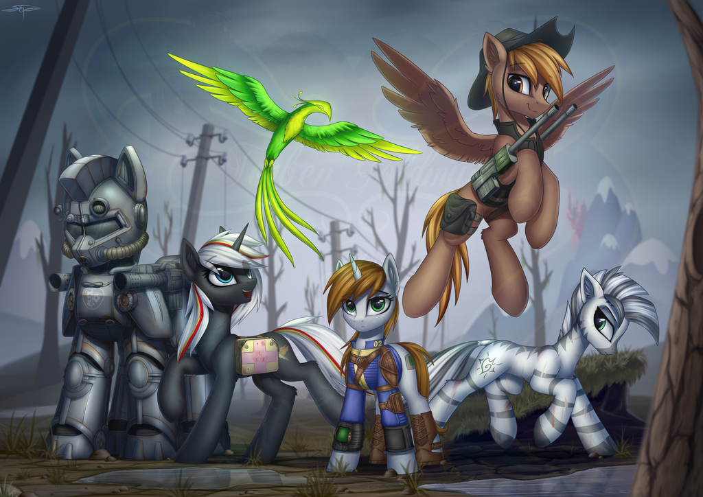 Fallout Equestria Little Pips Crew by Art-N-Prints