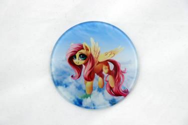 Fluttershy Glass Coaster by Art-N-Prints