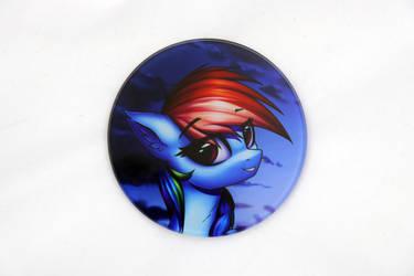 Rainbow Dash Glass Coaster by Art-N-Prints