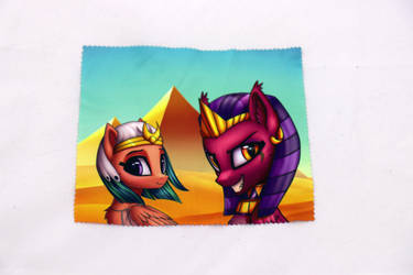 Sphinx and Somnambula Glasses Cleaning Cloth by Art-N-Prints