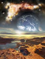 Shiny New Nebula by doneydonydone