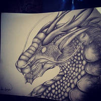 Graphite Dragon by Umbra-Daemon