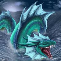 Sea Serpent by Umbra-Daemon