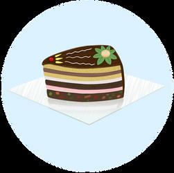 Chocolate birthday cake for my friend