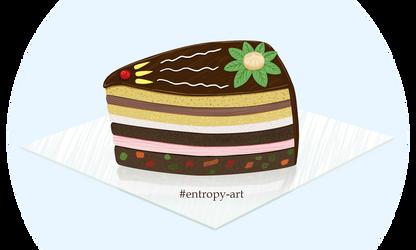 Piece of chocolate birthday cake