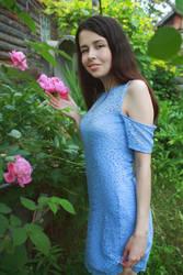 Girl in the garden (2) by FOX-FIRE44