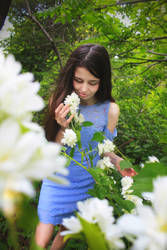Girl and jasmine flowers 2 by FOX-FIRE44