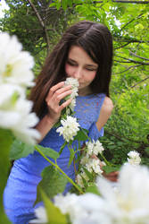 Girl and jasmine flowers 3 by FOX-FIRE44