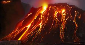 Its a volcano