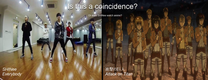 Attack on Titan salute in SHINee's everybody???