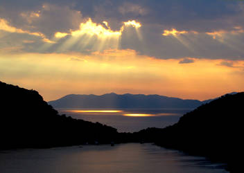Cloudy Sunset - Gemiler Island, Fethiye, Turkey by olgakofti