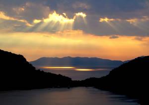 Cloudy Sunset - Gemiler Island, Fethiye, Turkey