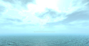 Ocean Skyline horizon background 3d artwork