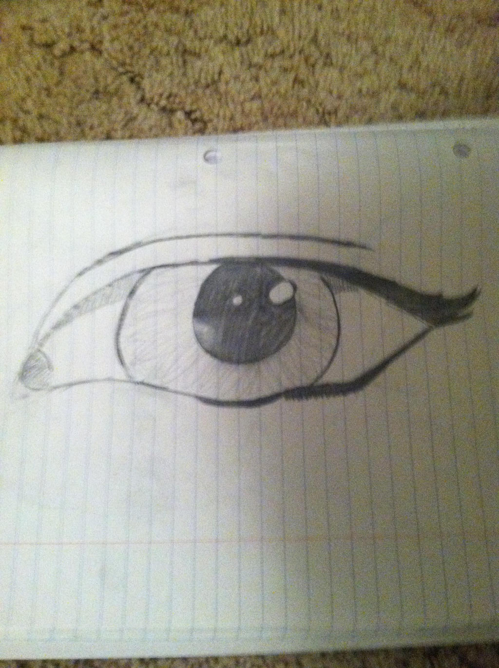 Realistic Eye 1 by AhoyFaytho
