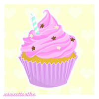 Cupcake for Kelzky by xsweettoothx