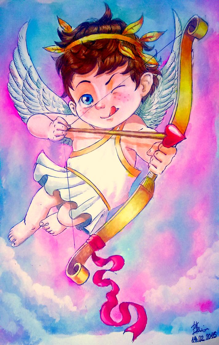 Cupid, Roman God of Love by vangel4e on DeviantArt