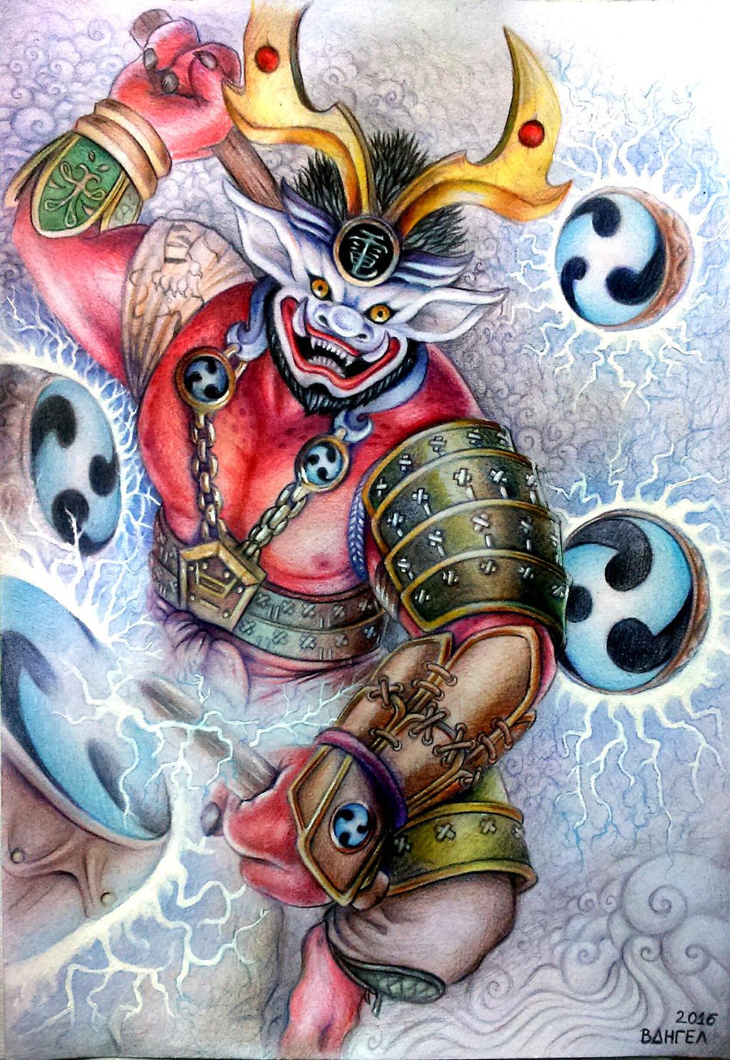 Raijin, Shinto God of ...