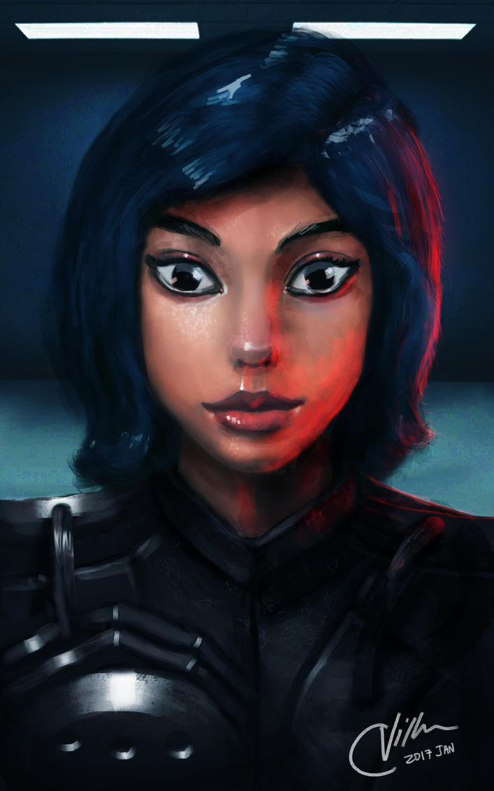 Control - Sci Fi Girl Portrait by CrayVill