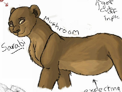 DeviantArt: More Like Sarabi Pregnant by Mushroom666